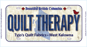 Quilt Therapy License Plate