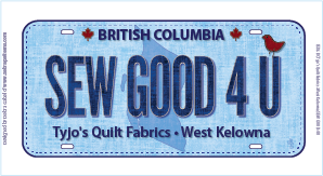 SEW GOOD 4 U License Plate