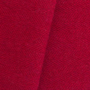 Red & Deep Red Herringbone wool