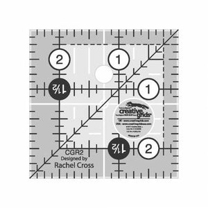 "Creative Grid Ruler 2 1/2"" square"