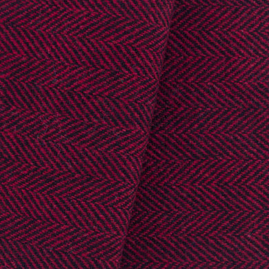 Red & Black Herringbone wool