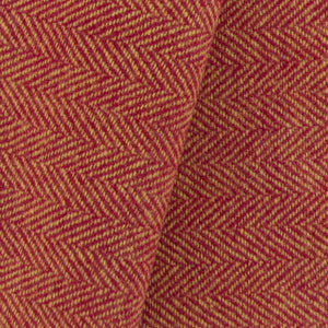 Red & Gold Herringbone wool