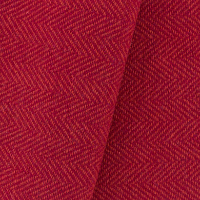 Red & Orange Herringbone wool