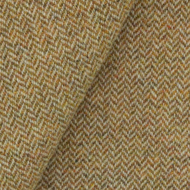 Gold & Natural Herringbone wool