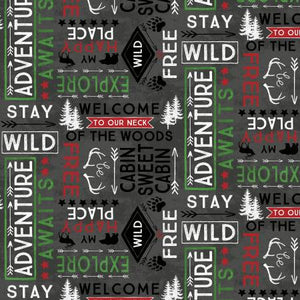 Cabin Welcome Home Flannel 36104 911