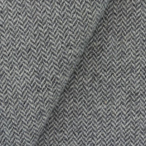 Grey & Natural Herringbone wool