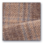 Brown & Blue Plaid wool