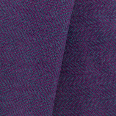 Teal & Purple Herringbone wool