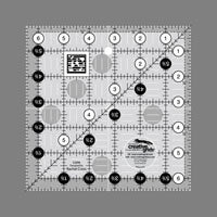 "Creative Grid Ruler 6 1/2"" square"