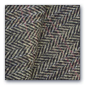 Black & Cream Herringbone wool smaller cuts