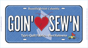 Goin' Sew'n License Plate
