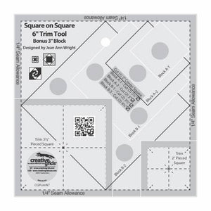 "Creative Grid 6"" Square on Square Trim Tool"