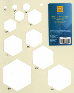 EZ Hexagon Template Sheet