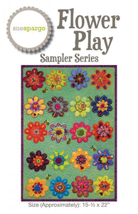 Flower Play pattern & template