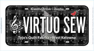 Virtuo Sew License Plate