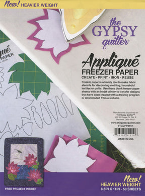 the Gypsy quilter - Applique Freezer paper