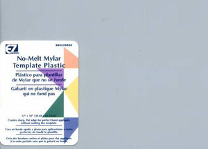 "No-Melt Mylar Template Plastic - 6 Sheets, 8.5"" X 11"""