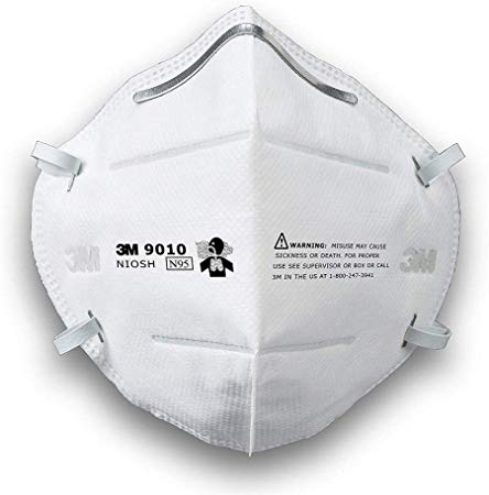 (5-Pack) 3M N95 Particulate Respirator 9010 Face Mask, Individually Wrapped
