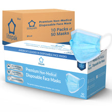 Load image into Gallery viewer, 500pcs Litepak Premium Disposable Face Mask Earloop 3-Ply (10 Boxes of 50 Masks)