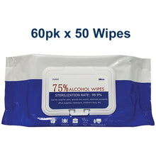 Load image into Gallery viewer, Premium Cleaning Wipes 75% Alcohol 50ct (50 pcs, 600 pcs, ....180,000 pcs)