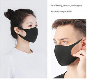 12pcs Reusable Face Mask Foam Fashion Assorted Colors Breathable Comfort Individual Wrap