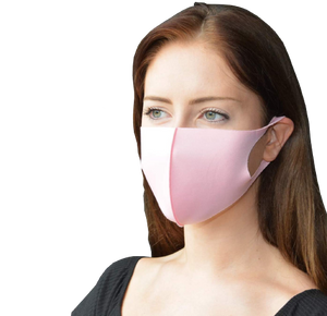 20pk Soft Face Mask Pink Double Layer Breathable Fashionable Reusable Washable