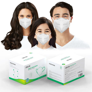 (Box of 20pcs) Arun KN95 Particulate Respirator Face Mask Disposable GB2626-2006