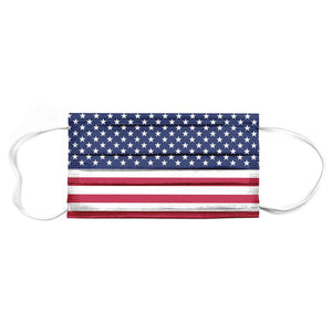 50 Pack 3-ply American Flag Disposable Masks Individually Wrapped