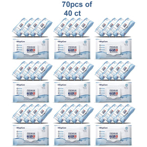 [FULL CASE] 70 Packs of 40ct Magicare Disinfecting Wipes 75% Alcohol