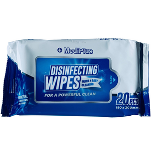 20ct MediPlus Disinfecting Wipes Isopropyl Alcohol Travel Size (1 Pack, 10 Pack...90 Pack)