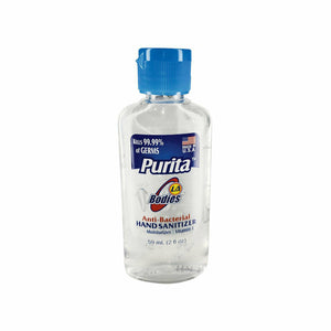 24pk Purita Hand Sanitizer 2 fl oz MADE IN USA Anti Bacterial Moisturizing