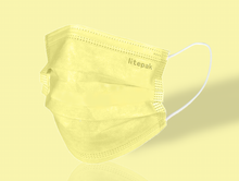 Load image into Gallery viewer, Litepak Premium Disposable Face Mask (50-Pack, Yellow)