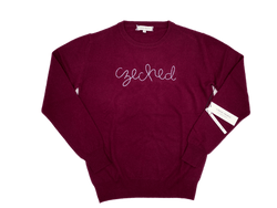 Women's Maroon Czeched Cashmere Sweater