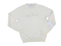 Women's Cream Czeched Cashmere Sweater