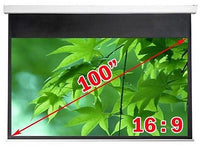 Antra™ PSA-100AG 16:9 Electric Motorized Projector Projection Screen Remote Matt Grey