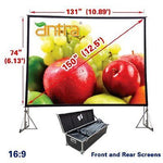 Antra™ PSD-150AA 16:9 Fast Fold Projector Projection Screen with Case Dress kits