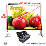 Antra™ PSD-180A 16:9 Fast Fold Projector Projection Screen with Carrying Case