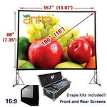 Antra™ PSD-180AA 16:9 Fast Fold Projector Projection Screen with Case Dress kits