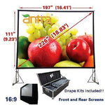 Antra™ PSD-226AA 16:9 Fast Fold Projector Projection Screen with Case Dress kits