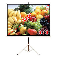 Antra™ PST-110B Tripod Compact Portable Projector Projection Screen 4:3 Matte White