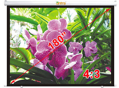 Antra™ PSA-180A 16:9 Electric Motorized Projector Projection Screen Remote Matt White