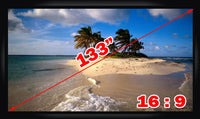 Antra™ PSF-133A 133 Inch 16:9 Fixed Frame Projector Projection Screen New PVC White