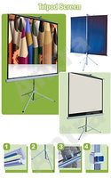 Antra™ PST-100B Tripod Compact Portable Projector Projection Screen 4:3 Matte White