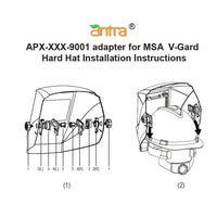 Antra APX-XXX-9001 Hard Hat Adapter Kits for connecting Welding Helmets and MSA V-Guard Cap Style Hard Hat
