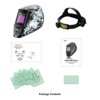 Antra™ AH6-660-6218 Solar Power Auto Darkening Welding Helmet Shade 4/5-9/9-13