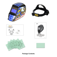 Antra™ AH7-360-7318 Solar Power Auto Darkening Welding Helmet Shade 4/5-9/9-13