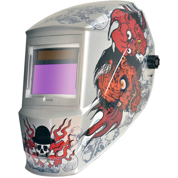 Antra™ RF121618 Solar Power Auto Darkening Welding Helmet Shade 4/5-9/9-13