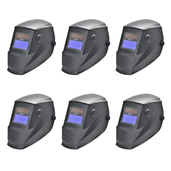 Wholesale Lot of 6 Antra™ AH6-260-0000 Solar Power Auto Darkening Welding Helmets Shade 4/5-9/9-13