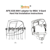 Antra™ APX-XXX-9001 Hard Hat Adapter Kits for Antra Helmets and MSA V-Guard hard hat
