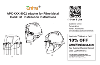 Antra™ APX-XXX-9002 Hard Hat Adapter Kits for connecting Welding Helmets and Fiber Metal